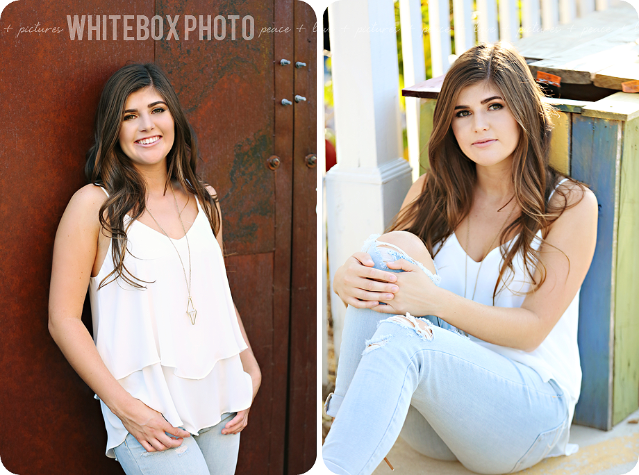 claire's high school senior session in downtown greensboro by whitebox photo.