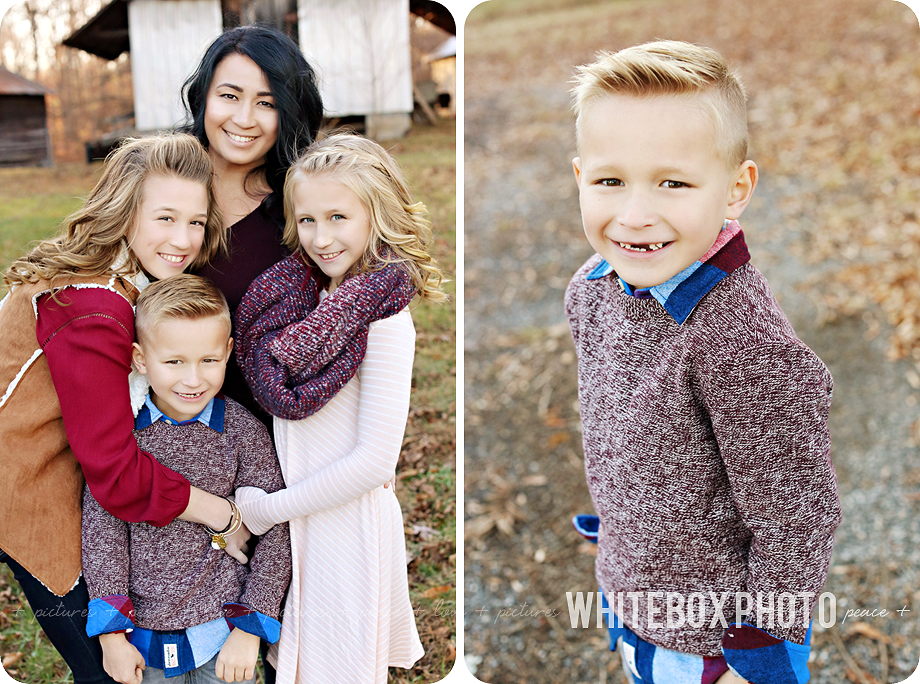 the taylor family photo session 2016 at the whitebox farm.