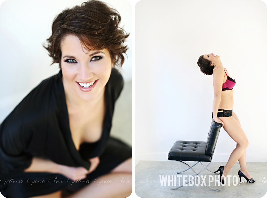 boudoir session at whitebox photo studio in 2017.
