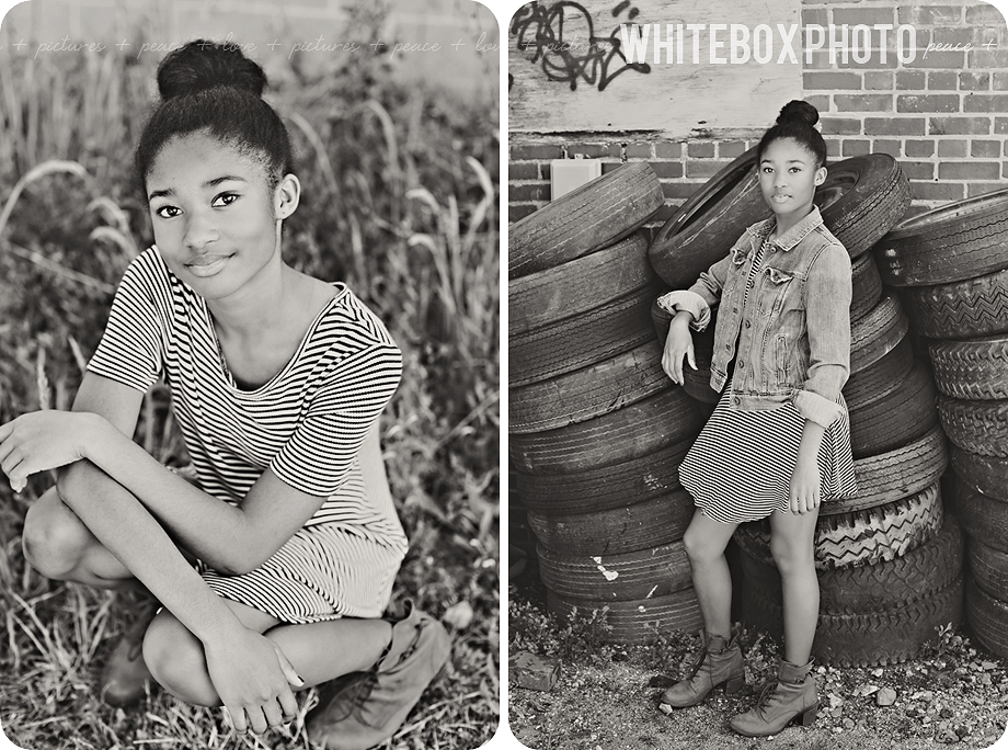 sydney's downtown portrait session in greensboro by whitebox photo.