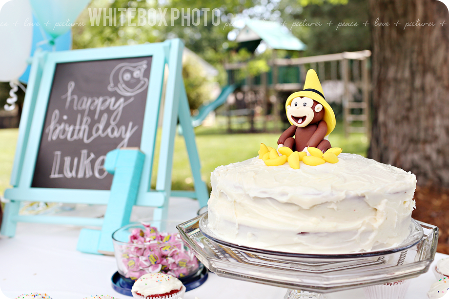 monkey themed first birthday party