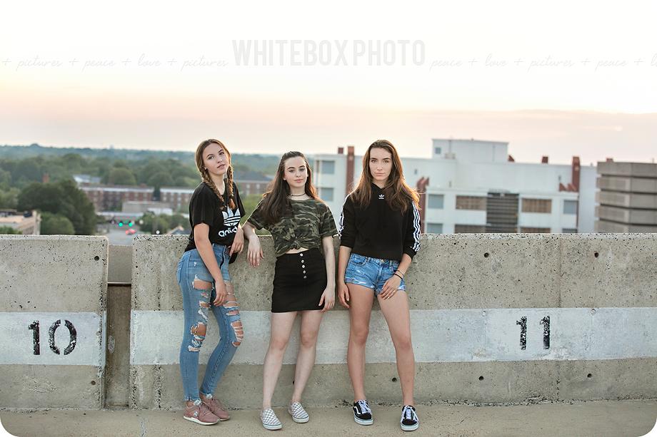 the three amigos • 8th grade graduation photos - North Carolina